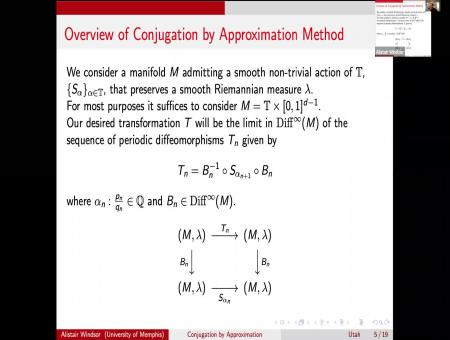 Smooth Realization and Conjugation By Approximation