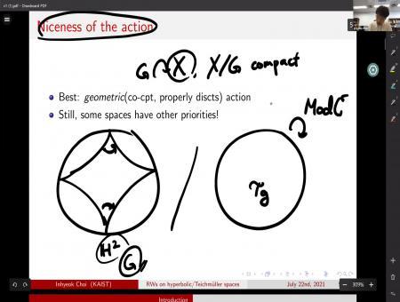 Random walks on Gromov hyperbolic spaes and Teichmüller spaces. Pacific Dynamics Seminar